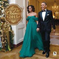 """2015  Barack Obama Forward Wall Calendar. 12"""" X 12"""" Size."""