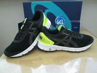 ASICS GEL-33 RUN  MENS  BLACK NEON RUNNING  WORK-OUT TRAINERS SIZE UK 9 EU 44
