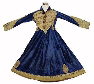 Antique Afghanistan Hazara Women's velvet Wedding Dress antik Afghan Samt Kleid