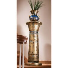 KY984 - Golden Pedestal of the Egyptian Kings Sculptural Column - Display