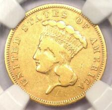 1856-S Three Dollar Indian Gold Coin $3 - Certified NGC VF Details - Rare Date!
