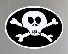 Harley Willie G Cross Bones Vinyl Sticker # 3101
