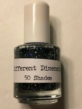 DIFFERENT DIMENSIONS LACQUER 50 SHADES GREY GLITTER NAIL POLISH INDIE