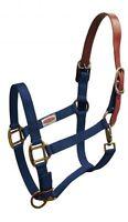 Showman NAVY Nylon Breakaway Western Horse Halter W/ Leather Crown! HORSE TACK!