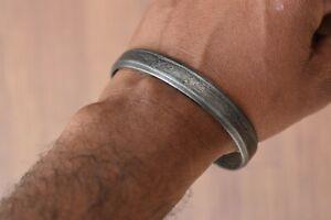 Vintage Damascus Steel Bracelet Hand Forged Rustic Bracelets Men's Cuff Bracelet