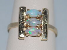 14k Gold ring with Opals(October birthstones) and beautiful design