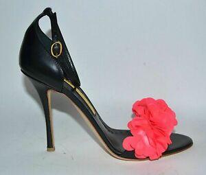 Rupert Sanderson Florinda Black Leather Sandals UK3.5/EU36.5 RRP £650