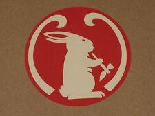 Mad River Canoe Smoking Bunny Logo Sticker Decal Boat Kayak Paddle New Free Ship