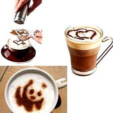 Coffee 16pcs Barista Stencils Cappuccino Art Duster Set Plastic Decoration Tool