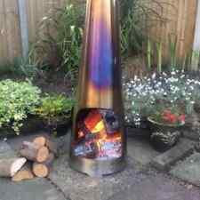 Made O' Metal 1.2m Stainless Steel Modern Chimney Chiminea Log Burner Heater
