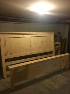 Homemade King size Head and Footboard  All Pine unfinished  $400