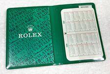 ROLEX Wallet Translation Booklet 1986 1987 Calendar Submariner 16800 GMT 16750 /