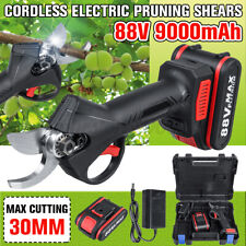 88V Cordless Rechargeable Electric Pruning Shears Secateur Branch Cutter Scissor