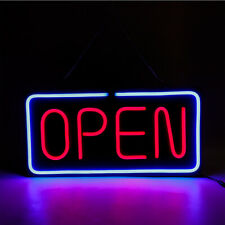 Neon Open Sign 24x12 inch Led Light 30W Horizontal Clubs Wall Hanging Chain Good