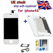 iPhone 4S Replacement Front LCD Screen Glass Digitizer Rear Cover Home Button UK