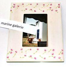 Cadre photo 10x15 vintage décoration pastel fleuri patiné à poser minimal naïf