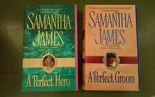 SAMANTHA JAMES * 2 Historical Romance Paperback Books