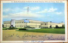1956 Elyria, Ohio OH Linen Postcard: Bendix-Westinghouse Automotive Air Brake Co