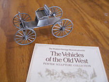 Franklin Mint Pewter Western Heritage Museum Vehicles Of The Old West Buckboard