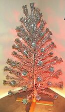 Vintage Aluminum Tinsel Christmas Tree Pom Pom Color Wheel 6' Galaxy Silverline