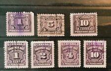 Canada - Timbres Taxe (1906 à 1965) oblitérés et neufs*