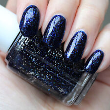 Essie Retro STARRY STARRY NIGHT Midnight Blue Glitter Nail Polish Lacquer .46oz