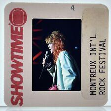 Cyndi Lauper 35mm Slide Montreux International Rock Festival Showtime Promo Vtg