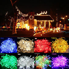 Fairy String Lights 300/400 LED Wedding Christmas Xmas Party Outdoor Clear Cable