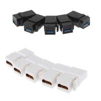 5pcs USB 3.0 Female to Female F/F Keystone+ 5 Pieces HDMI Keystone Coupler