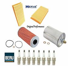 Tune Up Kit Oil Air Fuel Filters & Spark Plugs for Mercedes-Benz SL500 1998-1999