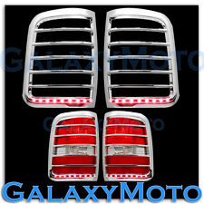 04-08 Ford F150 Chrome STYLESIDE Taillight Tail Light Trim Bezel+RED LED Cover
