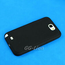 For Samsung Galaxy Note II, Note 2, N7100 Black TPU GEL Skin Cover Case