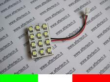 PANEL 12 LED SMD3528 BLANCO 6000K T10 BA9S SILURO M