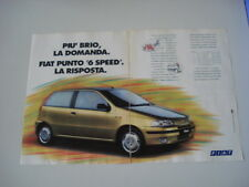 advertising Pubblicità 1993 FIAT PUNTO 55 '6 SPEED'