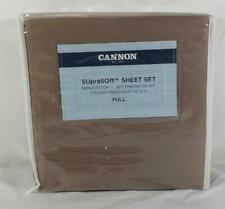CANNON SupraSoft Full 4-Piece Sheet Set - Amphora (Brown/Tan) NEW