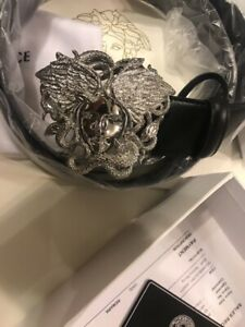 Versace silver Medusa Belt Size 100/40 Brand New With Tags 100%Genuine