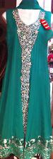 Green Anarkali Ball Gown Dress Indian Pakistani Designer Swarovski