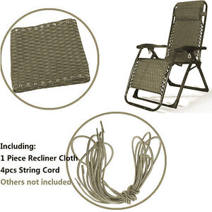 Replacement Fabric Bungee Cord Lace Repair Kit Zero Gravity Chair Sun Lounger