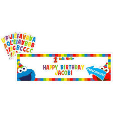 SESAME STREET Elmo Turns One GIANT CUSTOMIZABLE BANNER ~ Birthday Party Supplies
