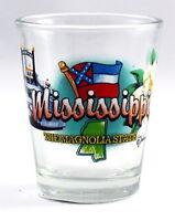 MISSISSIPPI MAGNOLIA STATE ELEMENTS SHOT GLASS SHOTGLASS