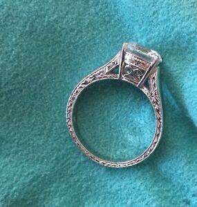 Designer Jack Kelege solitaire engagement ring