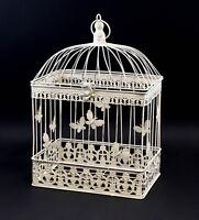 9977531 Metal Bird Cage Vintage White Rustic H43cm