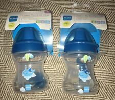 Brand New Mam Baby Boys Blue Learn To Drink Cup And Soother X 2. Age 6+ Months