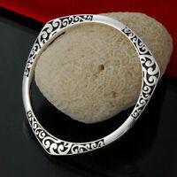 Vintage Gorgeous HQ 925 Sterling Silver *Plt Pattern Bohemian Bracelet Woman UK