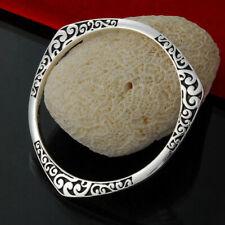 Vintage Sterling Silver Bracelet Bangle S925 HQ Gorgeous Pattern Bohemian UK