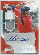 Yoan Moncada, Red Sox—2017 DK Rookie Signature Materials Holo Silver—23/49