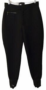 Vintage BOGNER Stirrups Ski Pants 34 Long USA Dry Cleaned Wool Nylon Black *EUC