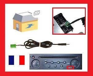 CABLE JACK AUXILIAIRE MP3 AUDIO AUTORADIO RENAULT SCENIC CLIO 2 CLIO CAMPUS