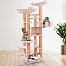 Cat Tree Scratching Post Climbing Toy Scratcher Activity Centre Beige 175.2 cm