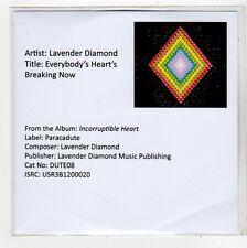 (FQ424) Lavender Diamond, Everybody's Heart's Breaking Now - DJ CD